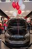 "The ""frunk."" Telsa Model X prototype at Santana Row, San Jose on March 18, 2012"