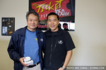 Director Ang Lee with Eric Cheng at KFOG in San Francisco (photo: Vienna Teng)