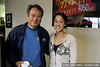 Director Ang Lee with singer-songwriter Vienna Teng at KFOG in San Francisco