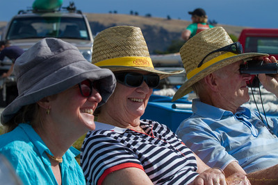 Sharon Royal with parents Barbara and Tom Williams watching her son Narottam Royal from Pleasant Point Yacht Club racing his Firebug.