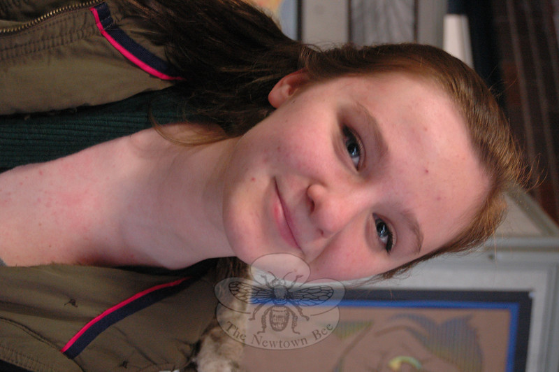 The Newtown Bee: Finish the sentence: In 25 years… Lily Holmes: Everything will have changed.(Hallabeck photo)
