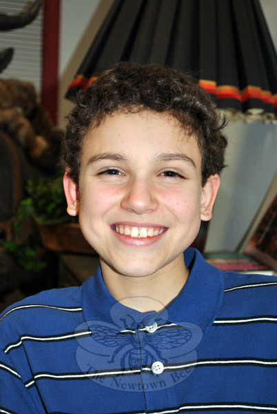 Michael Arther, a seventh grade student at Newtown Middle School, was recently selected as one of two youth to serve on the Nutmeg Book Award 2015 Intermediate Selection Committee. (Crevier photo)