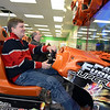 Residents Andrew Clure and Scott Cicciari have organized the Sandy Hook Arcade Center (SHAC), which now occupies a storefront in Sand Hill Plaza. The soft opening, Friday, February 15, and grand opening on Saturday, February 16, are intended to offer children and adults a free venue for gaming and fun.       (Bobowick photo)