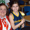 Youth basketball player Nicky Shairer with Rosemary Siversten. (Hutchison photo)