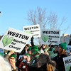 Weston residents are among the people from across Connecticut supporting the seven busloads of Sandy Hook and Newtown residents at the March for Change rally, demanding an end to gun violence. (Crevier photo)