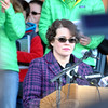 "Veronique Pozner, the mother of Noah Pozner, who died 12/14, calls for change ""Now!"" and reads a list of demands for changes to gun laws that she believes will prevent more deaths such as killed her son. Mrs Pozner followed speeches by other survivors and family members of victims of gun violence, including Virginia Tech survivor Colin Goddard and Aurora, Colo., shooting survivor Stephen Barton. (Crevier photo)"