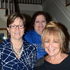 From left, organizers of the Great Newtown Reunion Sharon Dest Pacenka, Una Lucey and Wendy Lee Hewitt gathered this week at the Dana Holcomb House to make plans for the July 27 event. The hosts are seeking sponsors to help reduce ticket costs to help bring as many former Newtown students and faculty to the reunion as possible. (Voket photo)