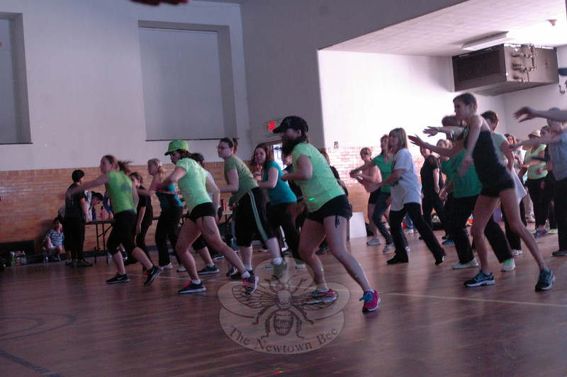"""A """"Shake It For Sandy Hook"""" Cardio dance fundraising event was held at Edmond Town Hall on Saturday, March 9, by VGroove Fitness. (Hallabeck photo)"""