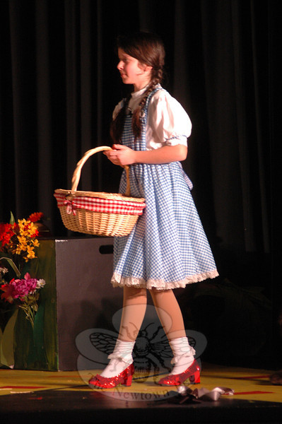 Talia Hankin performed during a dress rehearsal for the Newtown Middle School upcoming production of The Wizard of Oz was held on Tuesday, March 12. (Hallabeck photo)