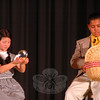 Talia Hankin, left, and Brooks Petershack performed during a dress rehearsal for the Newtown Middle School upcoming production of The Wizard of Oz was held on Tuesday, March 12. (Hallabeck photo)