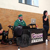 "Spirits of Wisdom with DJ Paralysis offered music for the VGroove Fitness ""Shake It For Sandy Hook"" Cardio dance fundraiser Saturday, March 9, in the gymnasium at Edmond Town Hall. Amanda Viti, right, spoke at the event. (Hallabeck photo)"