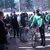 Members of Team 26 arrive at a rally held at Reed Intermediate School on Saturday, March 9, to send off Team 26 on a 400 mile cycling journey to Washington, D.C., was held. (Hallabeck photo)
