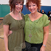 "Singer/songwriter Kasi-Ragan Kastelein, left, and her mother Lori Kastelein sang at a VGroove Fitness ""Shake It For Sandy Hook"" Cardio dance fundraiser on Saturday, March 9, in the gymnasium at Edmond Town Hall. (Hallabeck photo)"