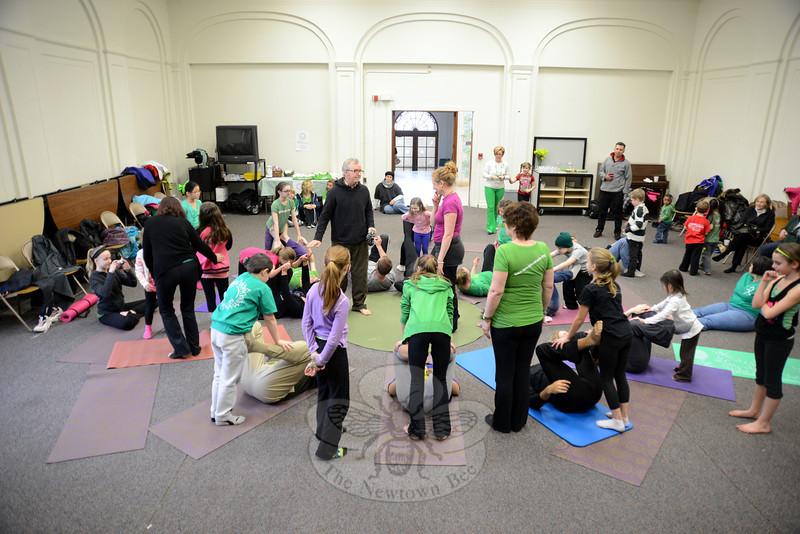 CircusYoga at Hawley School. (Bobowick photo)