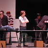 A rehearsal for the Newtown High School upcoming production of How To Succeed In Business Without Really Trying was held on Friday, March 15. (Hallabeck photo)