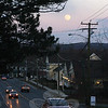 The Farmers' Almanac tells us the full moon that rose March 26, when this photo was taken, was 2013's Full Worm Moon. It reached its peak at 5:27 am Wednesday morning. According to another trusted source, The Old Farmer's Almanac, we are reminded that the Native Americans, who lived in the area that is now the northern and eastern United States, kept track of the seasons by giving distinctive names to the recurring full moons. Each full moon name was applied to the entire lunar month in which it occurred. The Full Worm Moon celebrates the time with the ground begins to soften and earthworm casts reappear, inviting the return of robins. This month's moon is also known as the Sap Moon, as it marks the time when maple sap begins to flow and the annual tapping of maple trees begins (although local maple enthusiasts have already been busy for a number of weeks, judging from the buckets affixed to trees in the area). (Hicks photo)