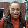 Newtown Bee: How much attention have you been paying to March Madness? Sophfronia Scott: I graduated from Harvard. I usually don't pay much attention, but when Harvard won I took notice. (Dietter photo)