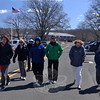 A group at Newtown Municipal Center participated in the American Heart Association's National Walking Day on Wednesday, April 3. (Dietter photo)