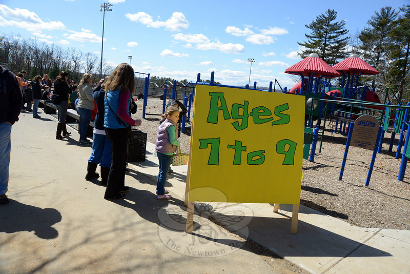 Grace Family Church hosted its annual Easter Egg Hunt on Saturday, March 30, with groups divided by age for the big event.   (Bobowick photo)