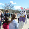 The Easter Bunny was the center of attention Saturday, March 30, as parents and children stepped up to meet him. (Bobowick photo)