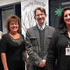 From left are Middle Gate Elementary School music teacher Tina Jones, Sandy Hook Elementary School music teacher Maryrose Kristopik, Newtown High School music teacher Chris Lee, and Newtown's Director of Music Michelle Hiscavitch. Mr Lee was recently the recipient of the Yale Distinguished Music Educator Award, and Ms Jones, Ms Kristopik, and Ms Hiscavitch were all recently nominated for the Grammy's Music Educator Award. (Hallabeck photo)