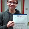 Newtown Middle School seventh grader Brian Sleeva recently attended the National Young Leaders State Conference in New York and earned a certificate of merit. (Hallabeck photo)