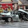 A two-vehicle accident occurred on South Main Street near its intersection with Prospect Drive, Peck's Lane, and Appleblossom Lane about 12:26 pm on April 12. Police said motorist Robert Zielinski, 26, was driving a 1993 Honda Civic sedan southward on South Main Street. (Police listed Oxford and Waterbury addresses for Zielinski). At that time, Jose Rivera, 36, of Bridgeport was driving a 2007 In-ternational box truck northward on South Main Street, police said. The Honda then crossed into the northbound lane and collided with the truck, police said. Hook & Ladder and Botsford firefighters went to the accident to extricate Zielinski from the Honda. Ambulance volunteers transported Zielinski to Danbury Hospital for treatment of serious injuries, police said. Zielinski was in fair condition on the afternoon of April 16, according to a hospital spokeswoman. After the accident, Rivera was transported to Bridgeport Hospital to be checked for pain, according to police. Police are investigating the accident and ask anyone who witnessed it to contact them at the police station. The accident caused travel de-lays on South Main Street. (Gorosko photo)