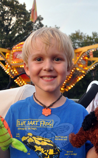 The Newtown Bee: What is your favorite part of a carnival? Emmet Regan: Bumper cars, it was fun bumping into other people.  (Dietter photo)