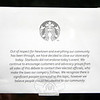 "A sign posted on the door of Starbucks on Church Hill Road late Friday afternoon acknowledged the ""significant passion"" on both sides of the gun issue. (Hicks photo)"