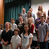 Students who ran for positions in this year's Newtown Middle School Student Council stood together on Friday, October 12. (Hallabeck photo)