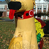"""Newtown Middle School's My Favorite Scarecrow Contest entries went on display this past Saturday, October 20, and will remain up until this Sunday, October 28. Voting on the scarecrows is open while the creations are on view for the public. Ballots are available at the school and online at  <a href=""""http://www.newtownbee.com"""">http://www.newtownbee.com</a>. Each vote costs $1, with the top three winning groups awarding the money to a charity of their choice. Votes can be submitted with the accompanying payment to either NMS or dropped off at The Bee's 5 Church Hill Road office. (Hallabeck photo)"""