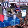 "Newtown Middle School's My Favorite Scarecrow Contest entries went on display this past Saturday, October 20, and will remain up until this Sunday, October 28. Voting on the scarecrows is open while the creations are on view for the public. Ballots are available at the school and online at  <a href=""http://www.newtownbee.com"">http://www.newtownbee.com</a>. Each vote costs $1, with the top three winning groups awarding the money to a charity of their choice. Votes can be submitted with the accompanying payment to either NMS or dropped off at The Bee's 5 Church Hill Road office. (Hallabeck photo)"