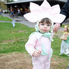 Young Mikaela Sisenstein is dressed as a delicate flower for Halloween. (Bobowick photo)