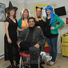 The staff at Fun Kuts, a barber shop for the whole family at 111 Church Hill Road in Sandy Hook Center, participated in the Sandy Hook Halloween Walk. Shown in the barber shop are Felix Benitez, seated, and, from left, Janet Merrifield, Marci Benitez, Lorin Fraser, and Kristi Parsell.  (Gorosko photo)