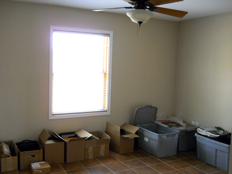 THE STORAGE ROOM<br /> Most of the stuff in the boxes will find homes eventually, but the containers that came from storage will most likely remain until I can find homes for their contents. There are plenty more to come.
