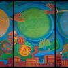 """Las personas acompañadas plasmaron sus mensajes para PBI en este tríptico que también pintado por el grafitero Guache. Vea también: """"Un retrato de la diversidad"""" sobre la producción de la obra: <a href=""""http://www.youtube.com/watch?v=VFBaboGsEvs&feature=youtu.be"""">http://www.youtube.com/watch?v=VFBaboGsEvs&feature=youtu.be</a>"""