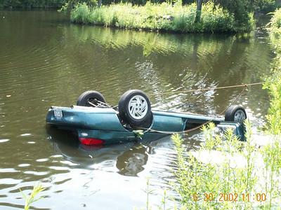 Car Into Pond - June 20, 2002