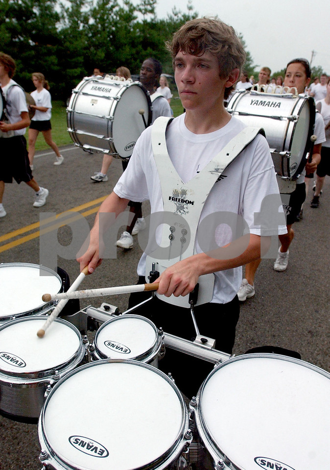 The Lakota East Marching Band((cq)) performs during the 4th of July Festival Parade Tuesday, 07/04/06. Staff photo by E.L. Hubbard