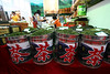 Large bins of Oolong tea for sale. Oolong from Fujian and Taiwan is world famous.