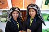Two young women from Yunnan wearing traditional Yizu clothing.