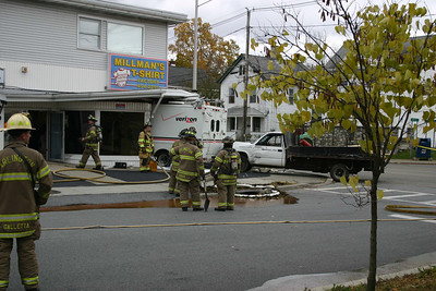 Town of Poughkeepsie Truck Into Building - October 29, 2008