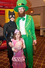 Dana Ginsburg (a bat), Paul Ginsburg (a leprochaun) and their daughter Leah (5 years old)