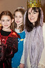 Johanna Antine (6 years old - a witch), Kayla Molkner (6 years old - girl scout), and Sarah Antine as Queen Ester.