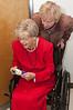 Rita De Lazzari, 103 years old, and her daughter Alvina Long