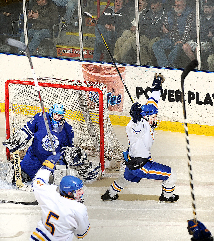 Class A State Championship hockey game between Lewiston and Falm