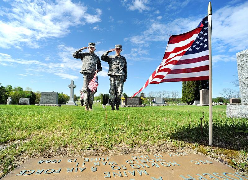 Flags for veterans