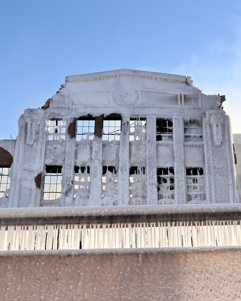 Abandoned warehouse fire - 3757 S. Ashland Ave. Chicago, IL USA.