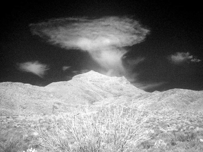 BOMB CLOUD IN INFRARED