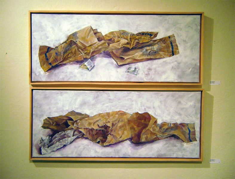 SALLIE'S WORK<br /> This is an example of Sallie's painting, although the photo really doesn't do it justice, as usual. You just can't get all the tonality and subtlety of the original. It's truly wonderful work.