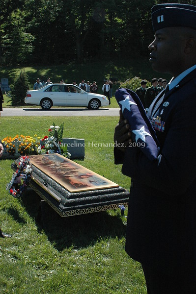 many branches of the service were present for a fellow soldier.